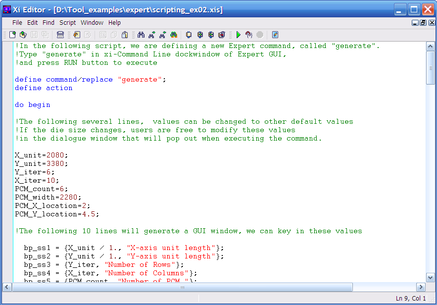 Lisa Script For User Defined Expert Commands