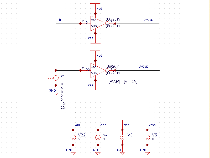 Inherited Nets with Explicit Pins Schematic
