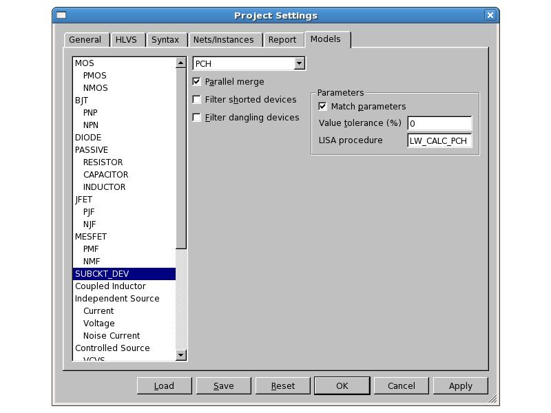 Calculation of Subcircuit-Device Parameters Utilizing LISA