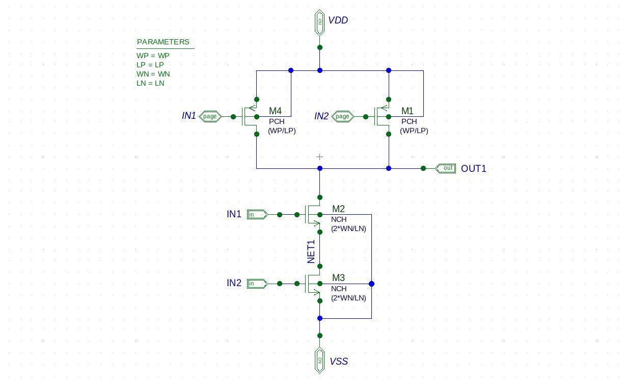 Inverter-equivalent Design (4-Bit Carry Look Ahead Adder) on